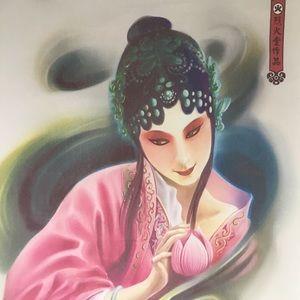 Chinese Opera fabric wall poster